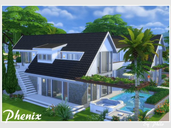 The Sims Resource Phenix No Cc By Philo Sims Haus Sims 4