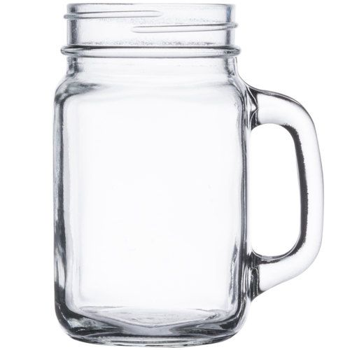 Acopa 16 Oz Customizable Mason Jar Drinking Jar With Handle 12 Case With Images Mason Jars With Handles Mason Jar Mugs Mason Jar Drinking Glasses