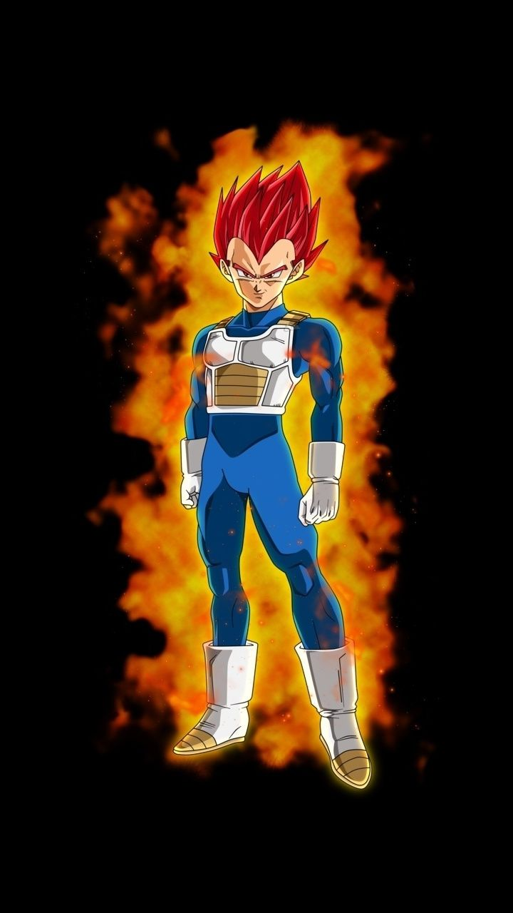 Young vegeta, anime boy, redhead, artwork, 720x1280