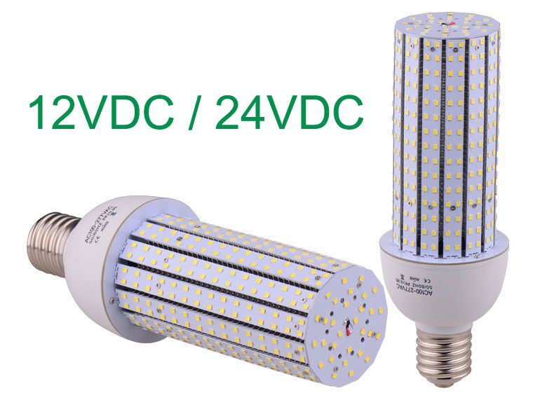 Dc 12v Dc 24v Led Corn Light Bulbs Equivalent 180w Hid Mh Hps Lamps Street Lamp Lamp Energy Saving Projects