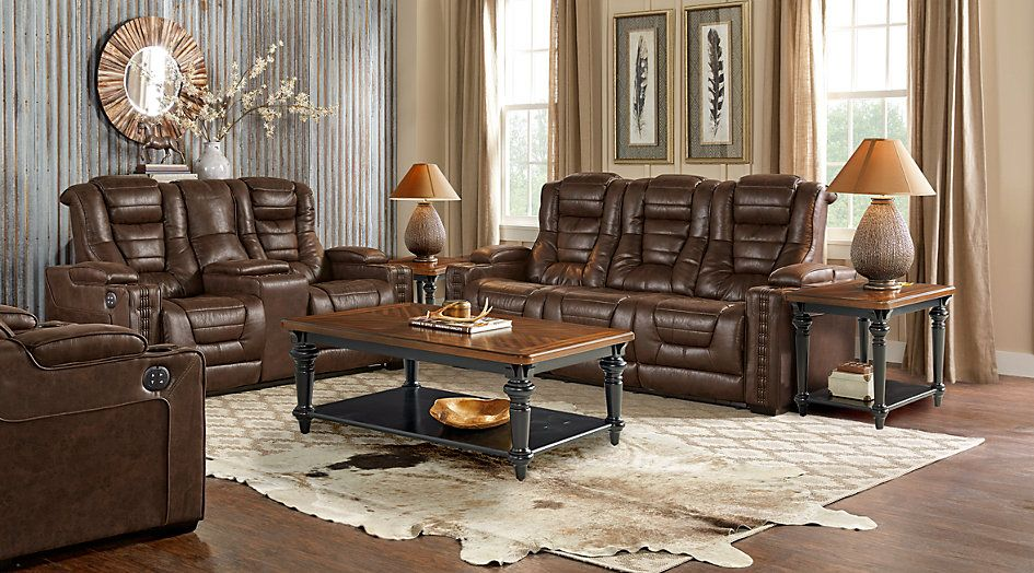 Eric Church Highway To Home Chief Brown 3 Pc Power Plus Reclining Living Room From Furniture New Furniture Living Room Sets Furniture