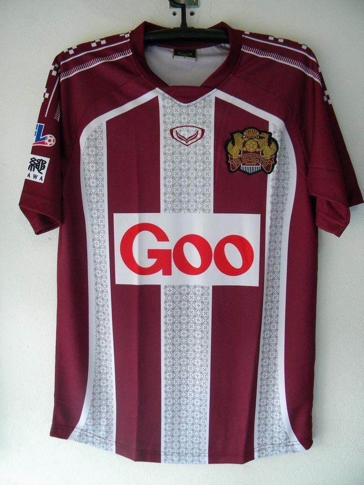 FC Ryukyu Jersey Soccer Football Shirt J-league JFL L grandsport Red 2013… f53cd86ffc7e8