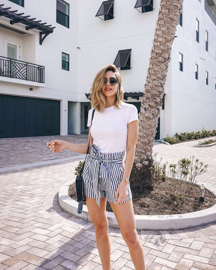 38 Perfect Wearing Summer Shorts Ideas - ADDICFASHION #summeroutfits2019