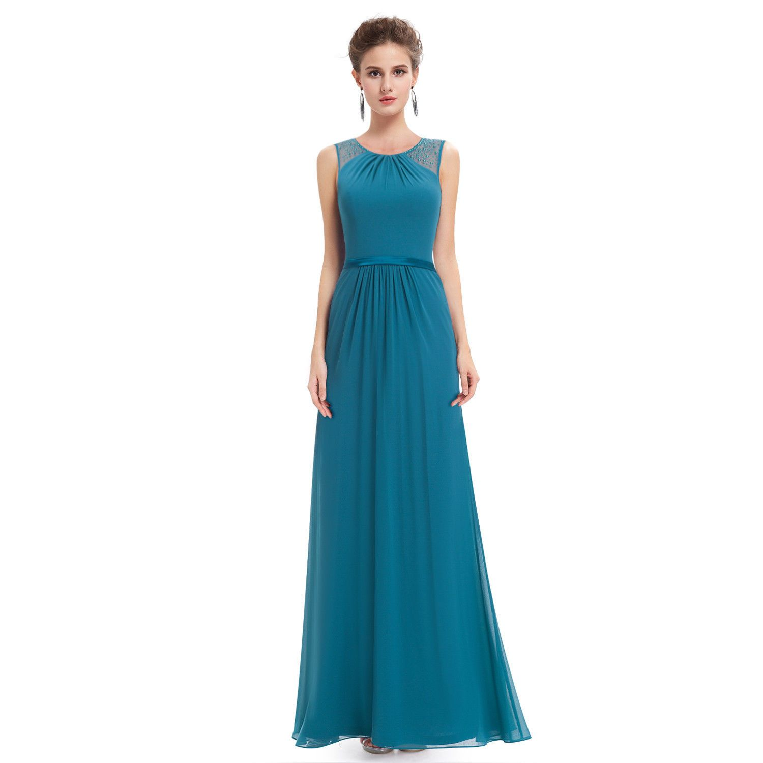 Awesome great women plus chiffon bridesmaid formal evening dress