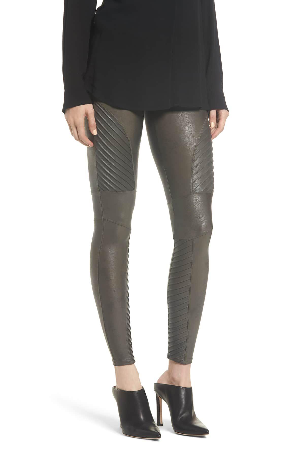 d88fe2102467c SPANX Faux Leather Moto Leggings, Main, color, GUNMETAL   Clothes ...