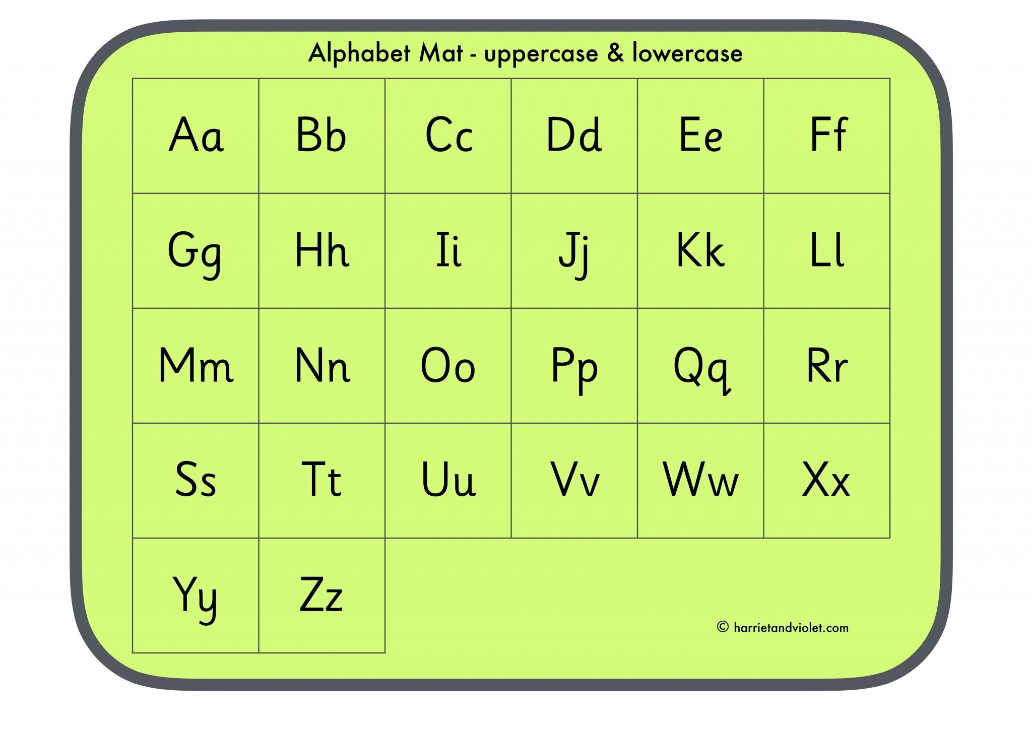 Alphabet mat - uppercase and lowercase - Free Teaching Resources ...