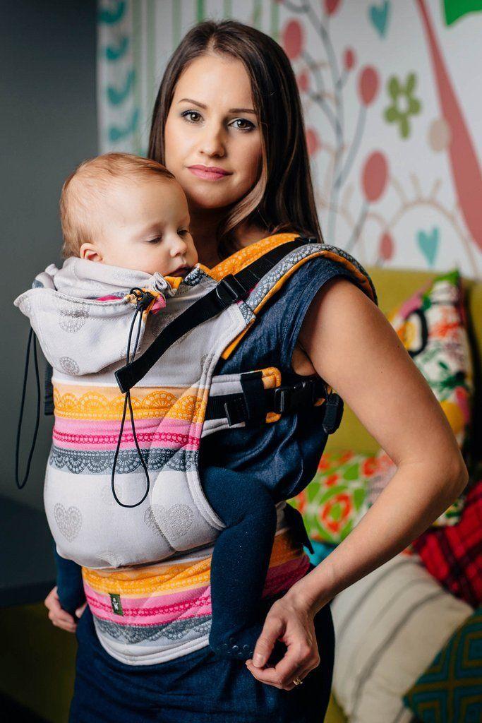 Porte-bébé préformé tissé grandeur bambin (Toddler) par Lennylamb - Vanilla  Lace 2a27b59f9f0b