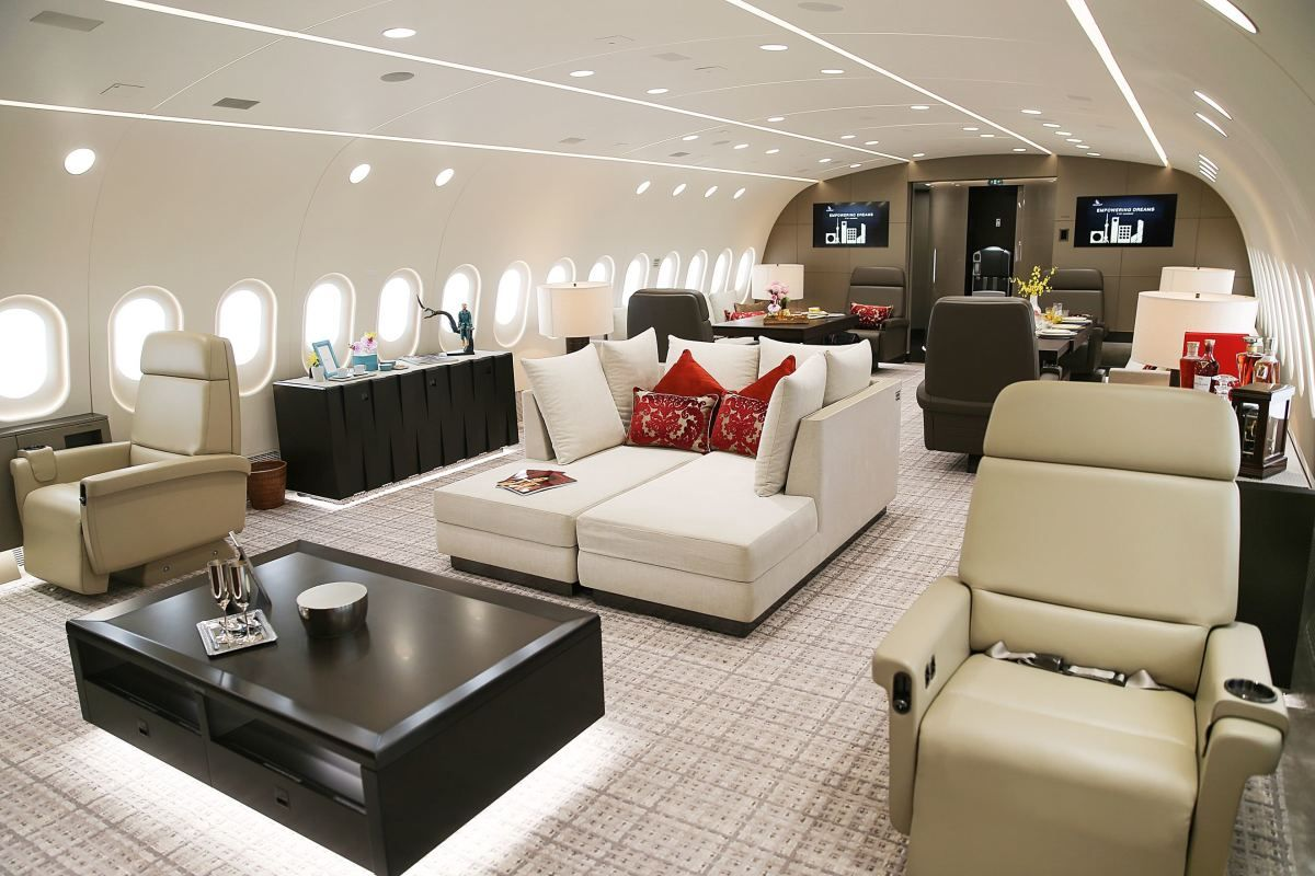 Inside an incredible million private dreamliner ultralinx also my yatch rh pinterest