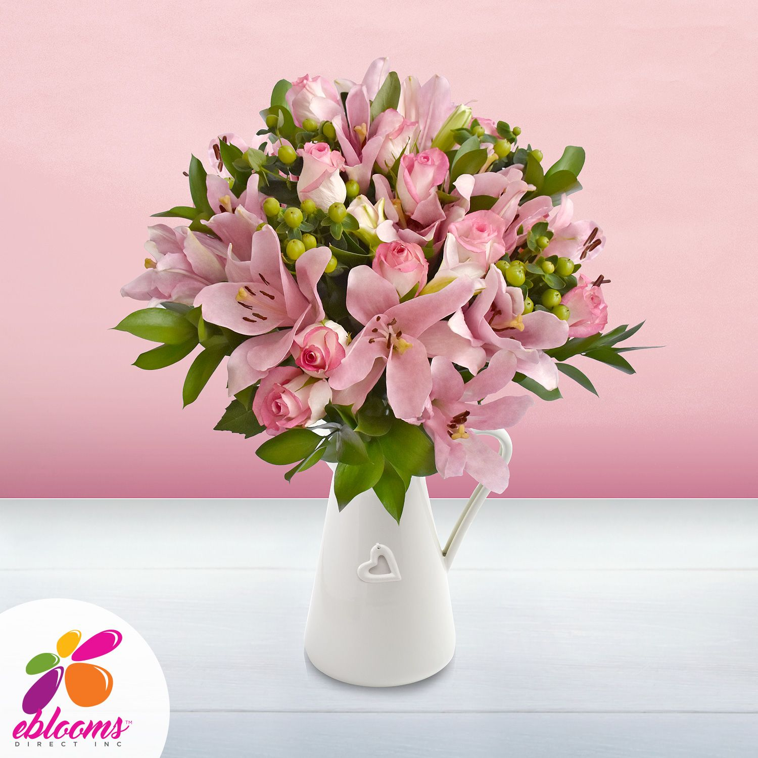 30 stems Mixed bouquet 50cm Graceful Elegance - Light Pink - Pack 5 ...