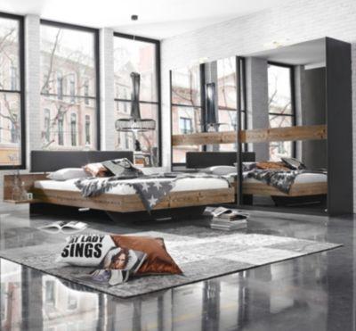 Schlafzimmer mit Bett 180 x 200 cm Lärche natur/ graphit Jetzt