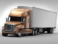 Trailer Freightliner Truck 3ds Trucks Freightliner Freightliner Trucks