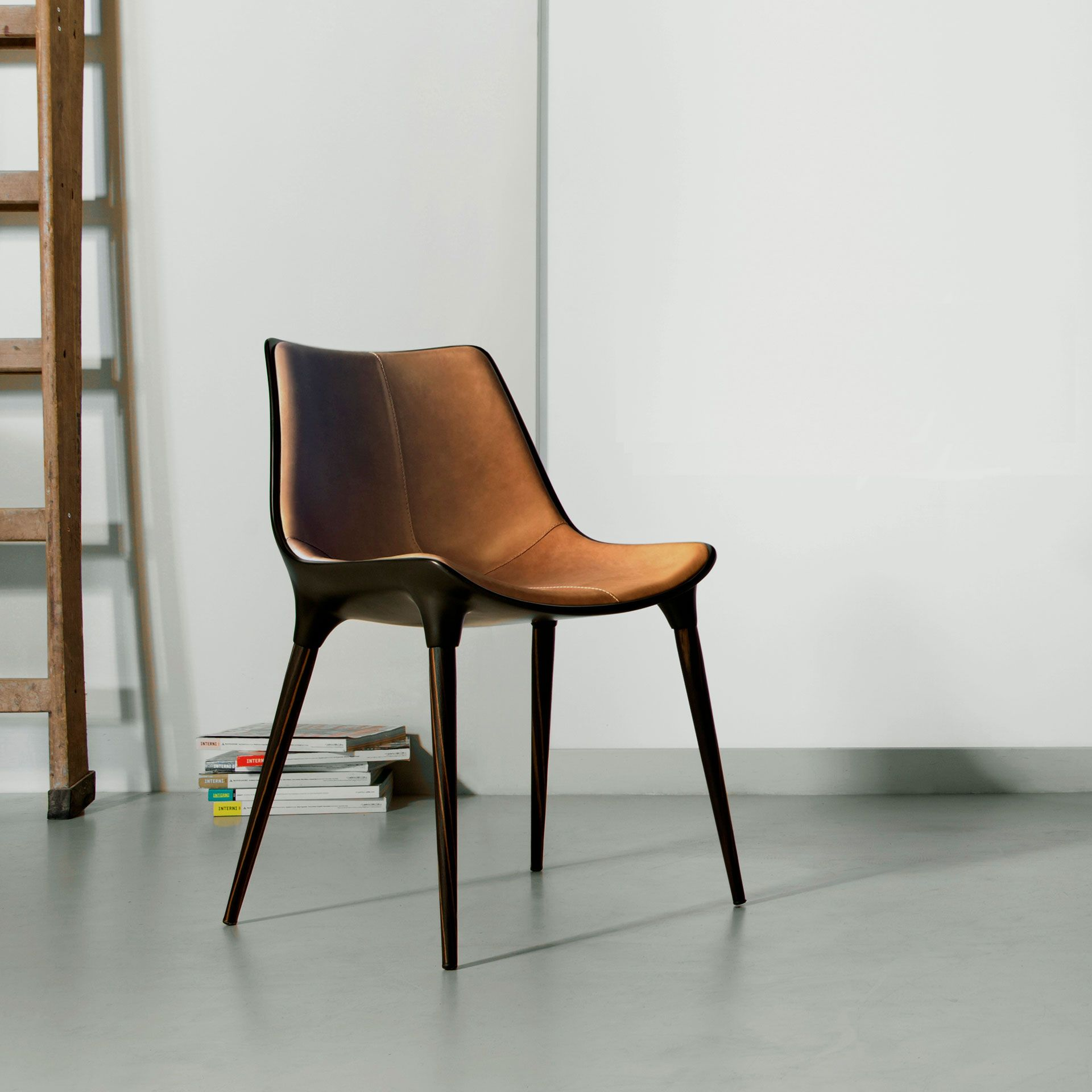 Langham Dining Chair In Leather