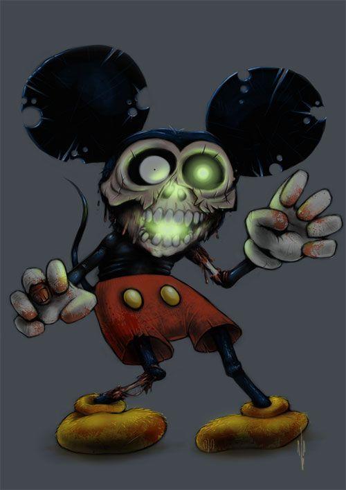 25 unusual mickey mouse artworks zombies zombie disney disney