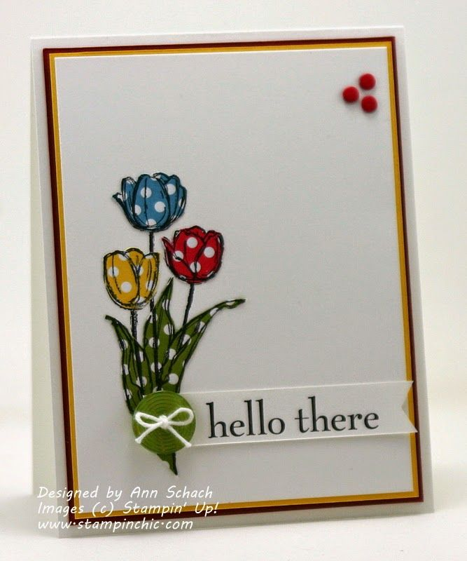 The Stampin' Schach: Quick and Easy Paper Pieced Tulips for The Paper Players