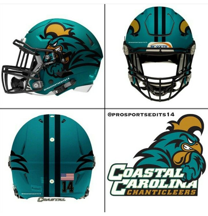 Coastal Carolina Chanticleers Carolina Football Football Helmets College Football Helmets
