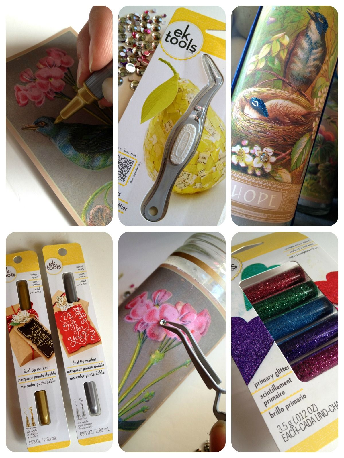 *Rook No. 17: recipes, crafts & whimsies for spreading joy*: Bluebird of Happiness Candle & Matchbook Gift Set Tutorial ~ (The Right Tools Make All the Difference #EKTools)