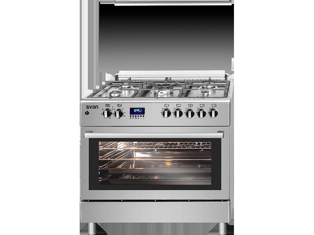 Svk9562fex Cocina De 5 Fuegos Inox De Svan Horno De Gas Cocinas Sistemas De Seguridad