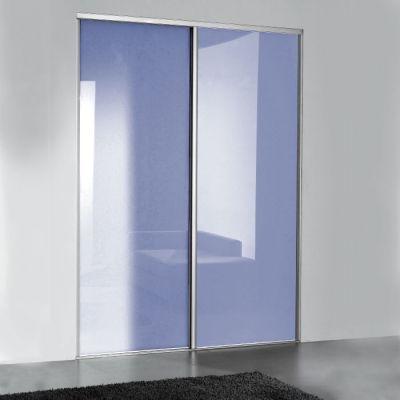 Porte coulissante verre laqué brillant lila taher ramrouma - porte d armoire coulissante