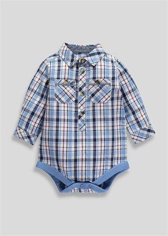 boys shirt style romper newborn18mths  matalan  boys