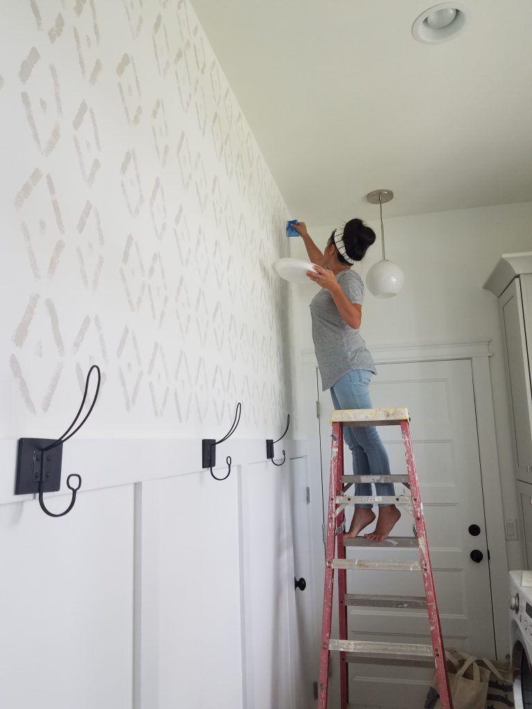 DIY Sponge Wall - Carcaba Road - Jess Davis