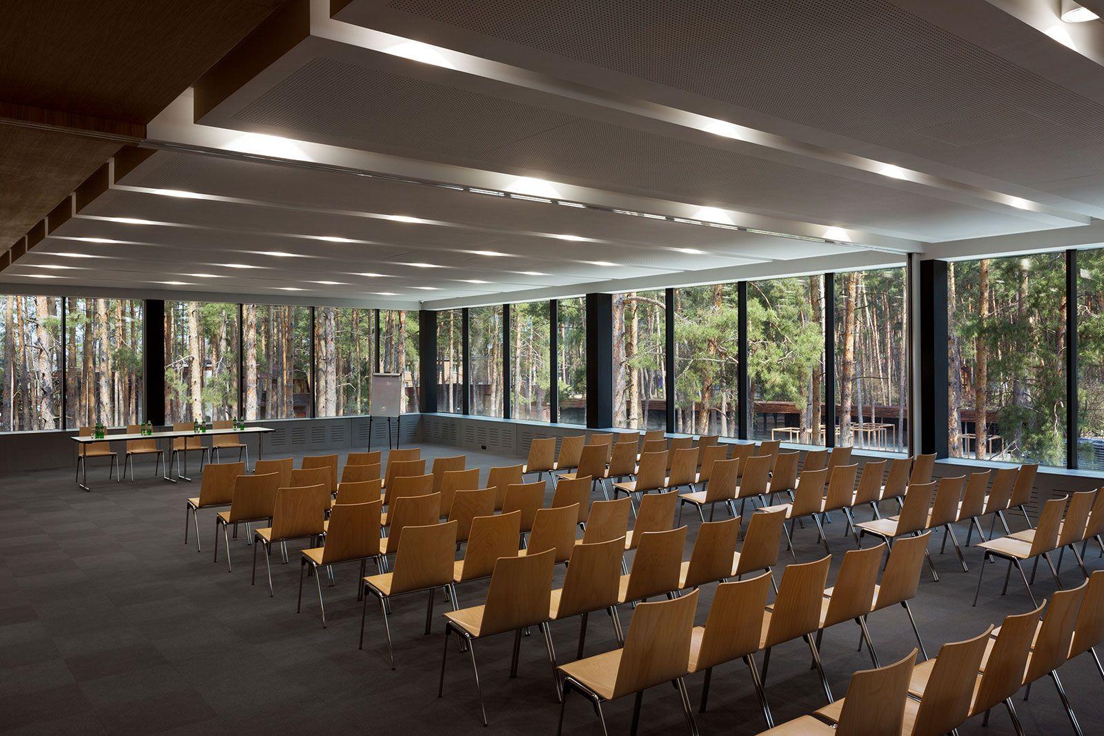 conference hall in relax park verholy  poltava region  ukraine