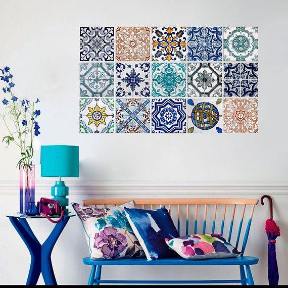 ぷっくり立体的 100均 タイルステッカー リメイク活用術 Tile Decals Tile Stickers Kitchen Hydraulic Tiles