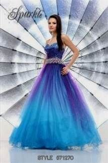 Cool blue and purple ombre quinceanera dresses