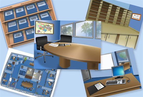 5 Free Office Themed Editable Powerpoint Backgrounds E Learning