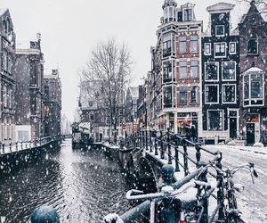 Imagen de snow, winter, and amsterdam #paisajeurbano