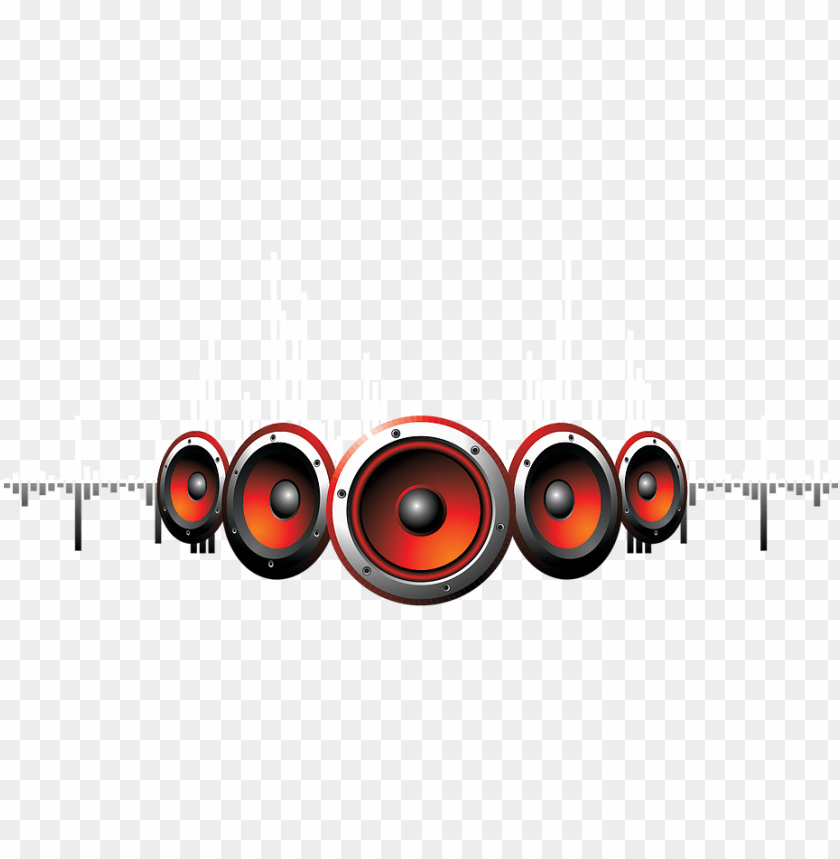 Dj Png Speaker With Sound Waves Png Image With Transparent Background Png Free Png Images In 2021 Png Images Dj Logo Sound Waves