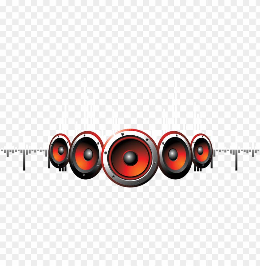 Dj Png Speaker With Sound Waves Png Image With Transparent Background Png Free Png Images Dj Logo Sound Waves Png Images