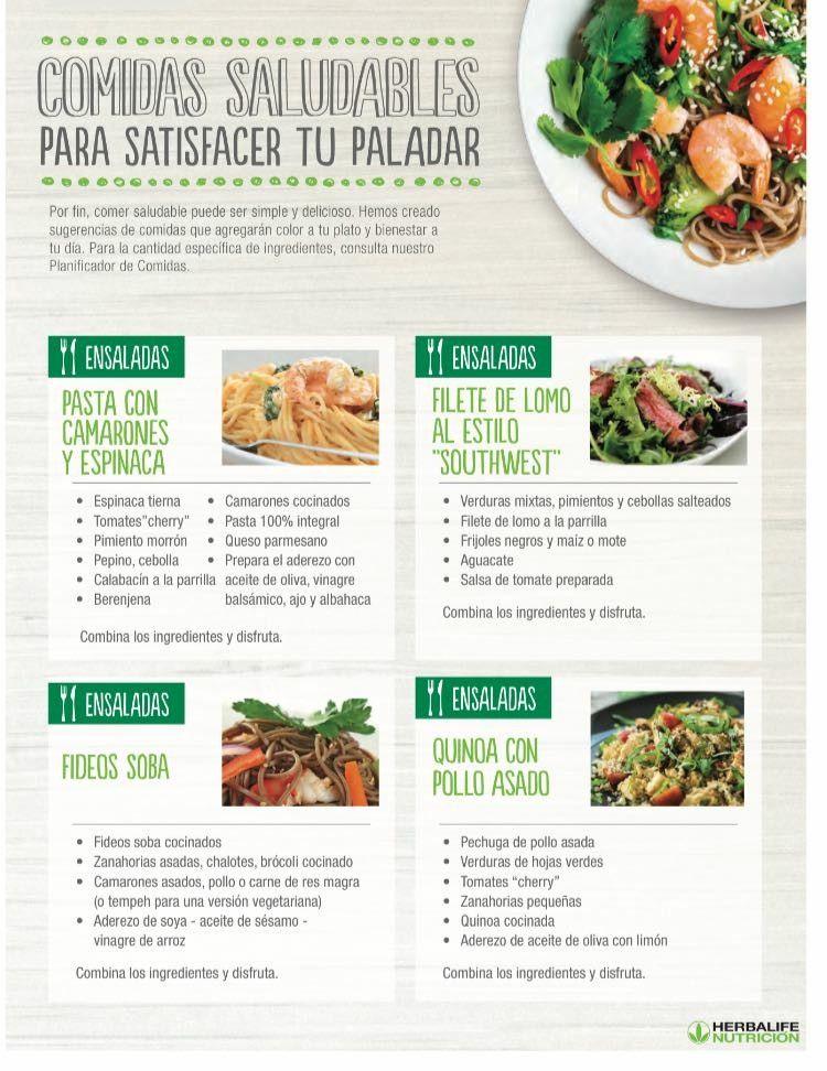 Recetas de comida herbalife