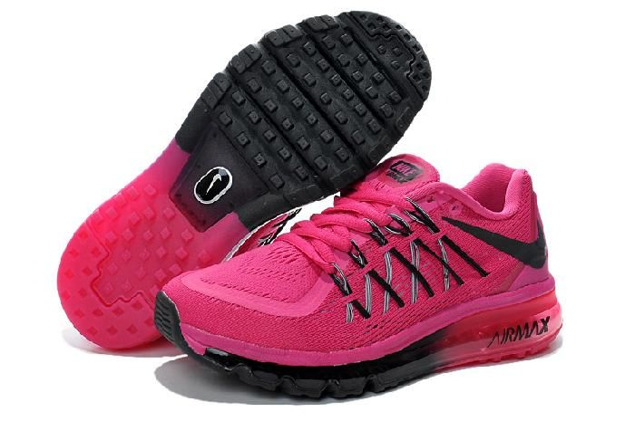 Acheter La Mode Bon Nike Air Max 2015 Running Chaussureson Vente Femmes  Black Chaussures et Belle