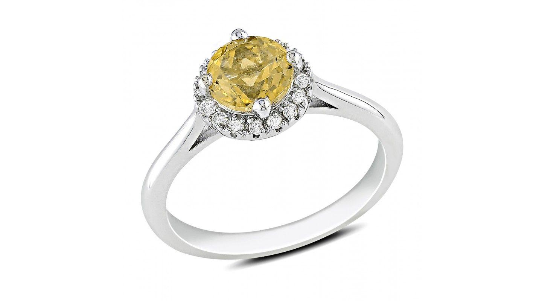 1 10 Carat Diamond 3 4 Carat Citrine Ring In Sterling Silver Citrine Ring Diamond Fashion Rings Diamond