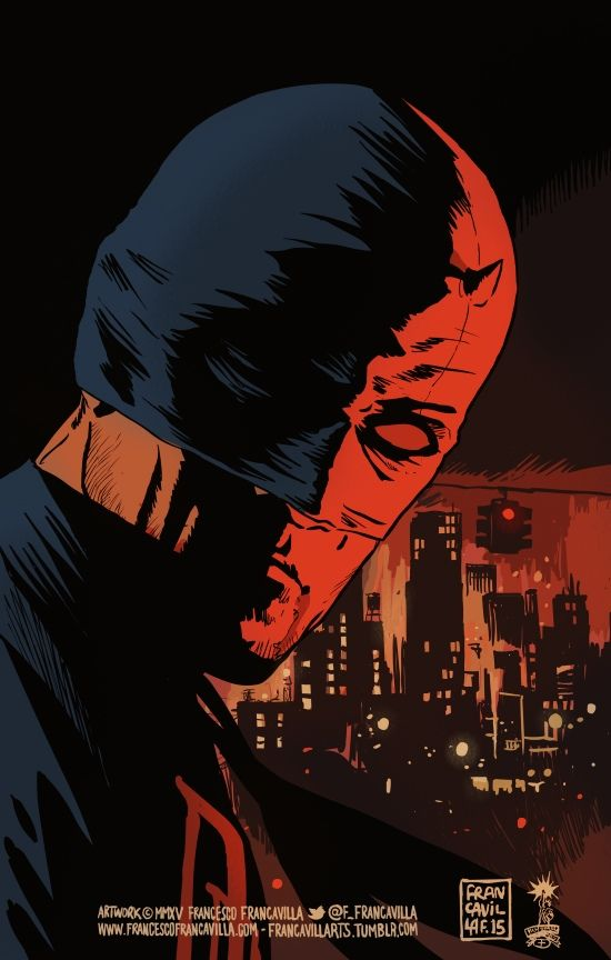 MAN WITHOUT FEARArt by Francesco FrancavillaEnding this Daredevil Week with the latest tribute I drew this morning - hope you guys are enjoying these - and the show :)Cheers,FF