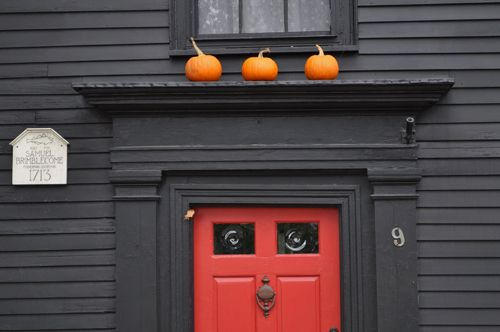 Red Front Door Brown House black house white trim red door - google search | exteriors