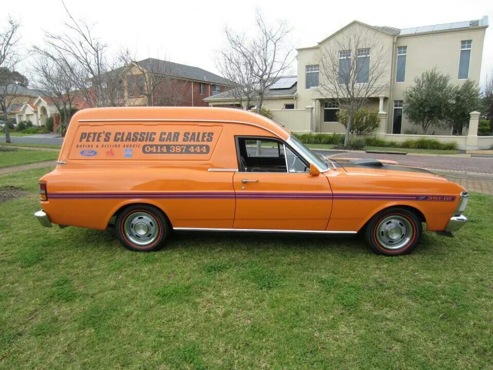 Ford Xy Panel Van Aussie Muscle Cars Cool Vans Hot Cars
