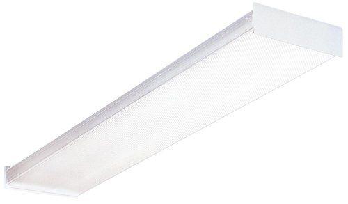 Lithonia Lighting Sb 232 120 Gesb 4 Foot 2 Light T8 Fluorescent Ceiling Fixture White Clo Fluorescent Light Fixture Kitchen Ceiling Lights Lithonia Lighting
