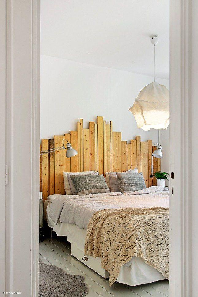 DIA20 Inusual cabecera de restos de madera | Bed / Bath and beyond ...