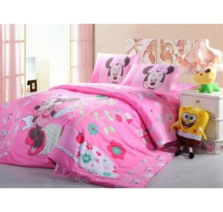 Pink Bowtie Minnie Mouse Twin Full Bedding Sets Full Bedding