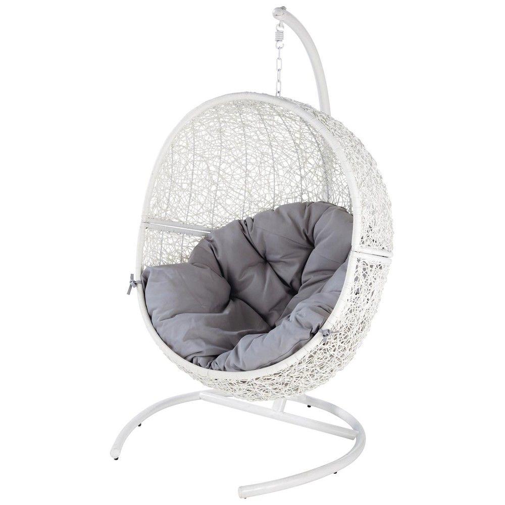 Poltrona Sospesa Bubble Chair.White Garden Armchair Cocon Cocon Maisons Du Monde