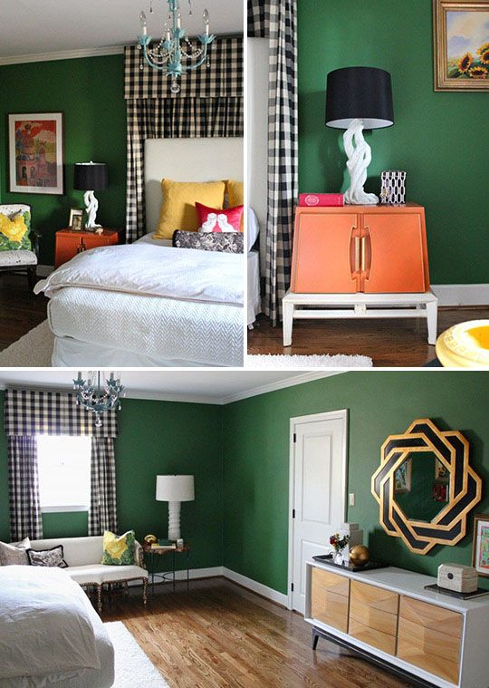 Emerald Green Gold White And Light Wood Accents Love The Couch By