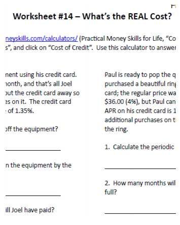Financial Literacy Worksheet Sample Freebie Introduction To For S From 7sistershomeschool
