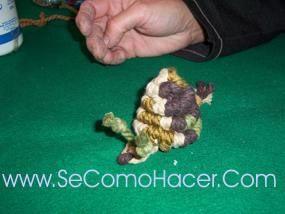 caracol de macrame 2