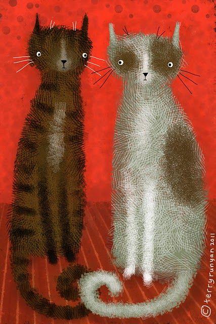 Salt & Pepper Cats, Terry Runyan