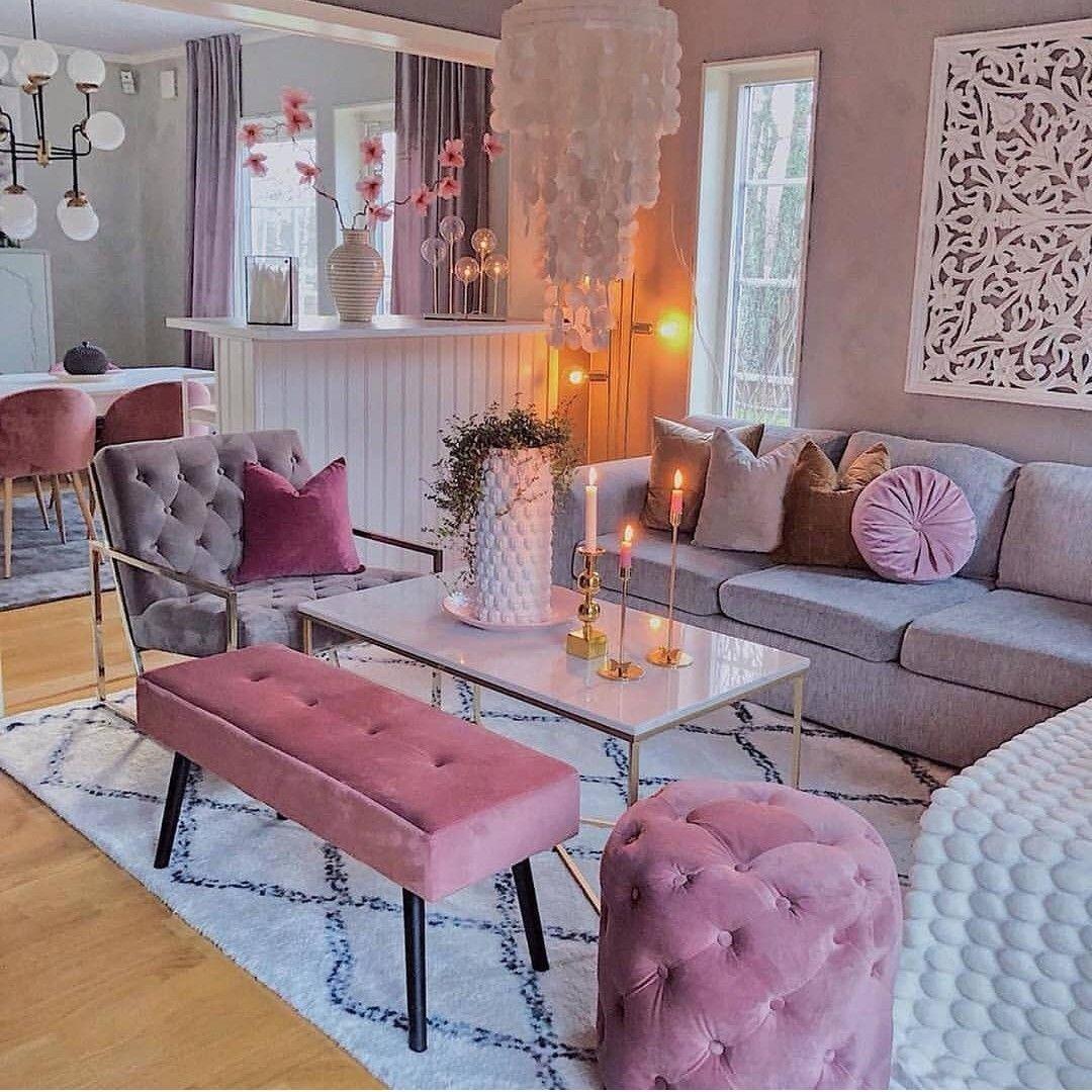 Home decor pink living room living room decor apartment