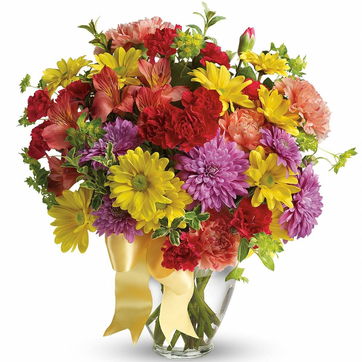 A bouquet sure to add color to anyones day that includes a bouquet sure to add color to anyones day that includes alstroemeria yellow daisies lavender mums orange carnations and more tev31 7 izmirmasajfo