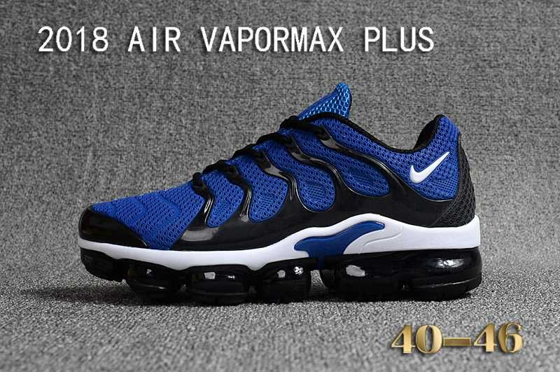Nike Air Vapormax TN Plus 2018 KPU Black Blue Men Sneakers in 2019 ... 4cbd3e061