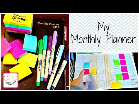 Monthly Planning--A Look Into My Dollar Store Planner - YouTube
