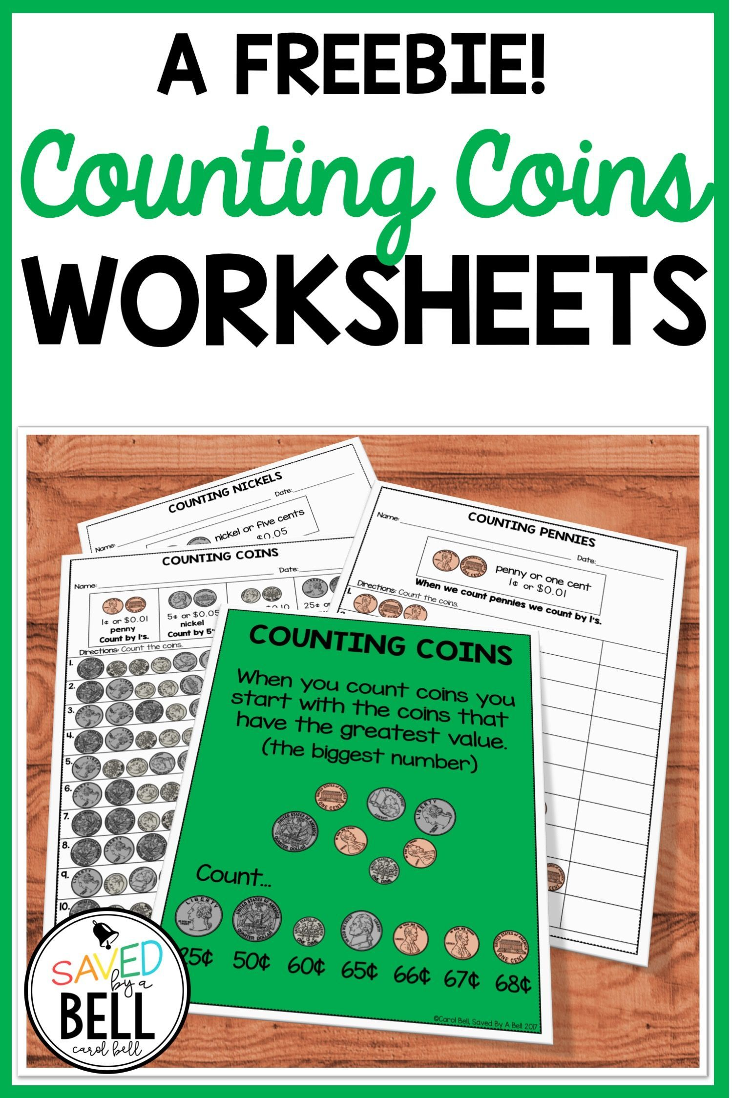 Free Counting Coins Worksheets